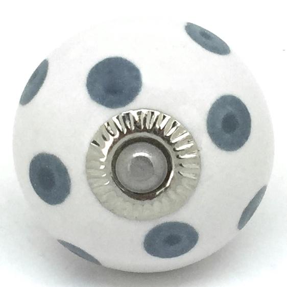 CK701 White Dark Slate Grey Dots