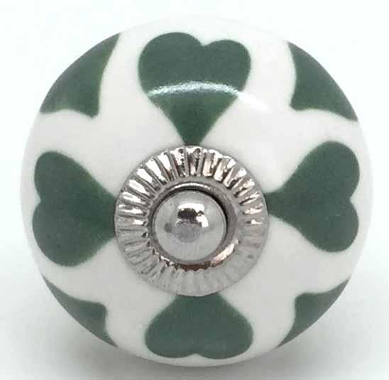 CK717 Love Hearts Vintage Green