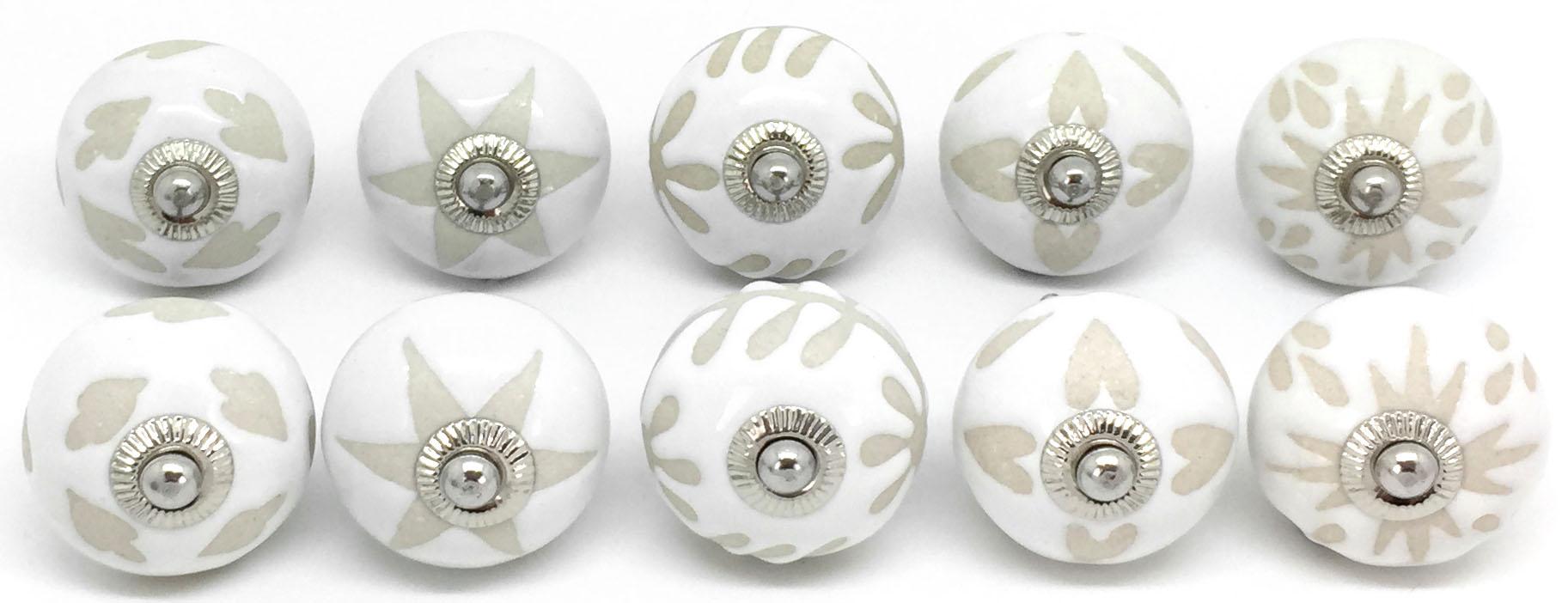 FP70 Set of 10 Mixed White & Cream
