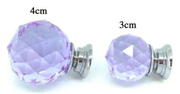 GK010 Mayfield Purple 4cm Glass