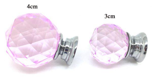 GK011 Mayfield Pink 4cm Glass