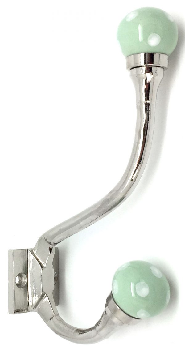 HK238 Claremont Sage Green Dot Coat Hook