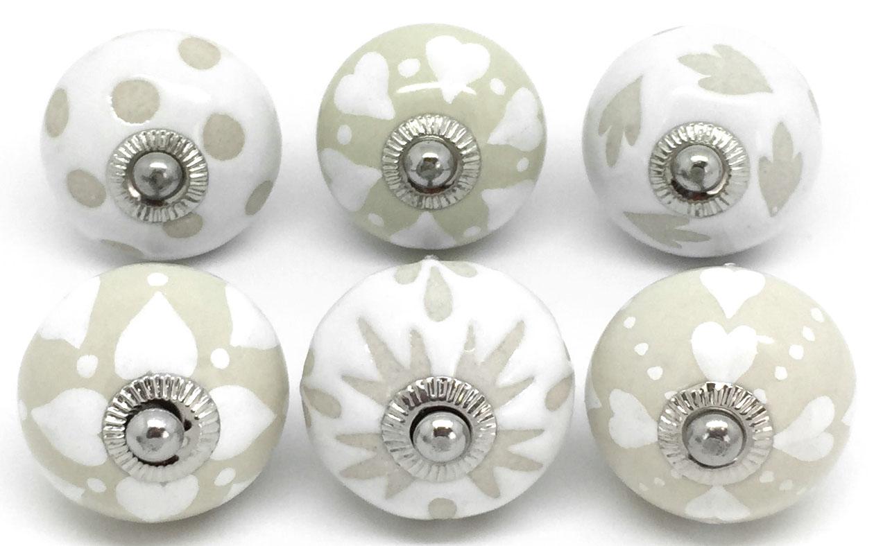 S6-11 Set of 6 Cream & White