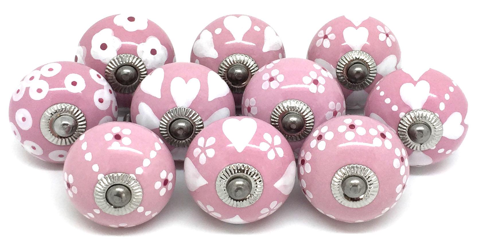 Set of 10 Pink & White FP1