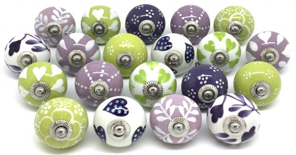 Set of 20 Lilac Lime & Purple Pairs Z04