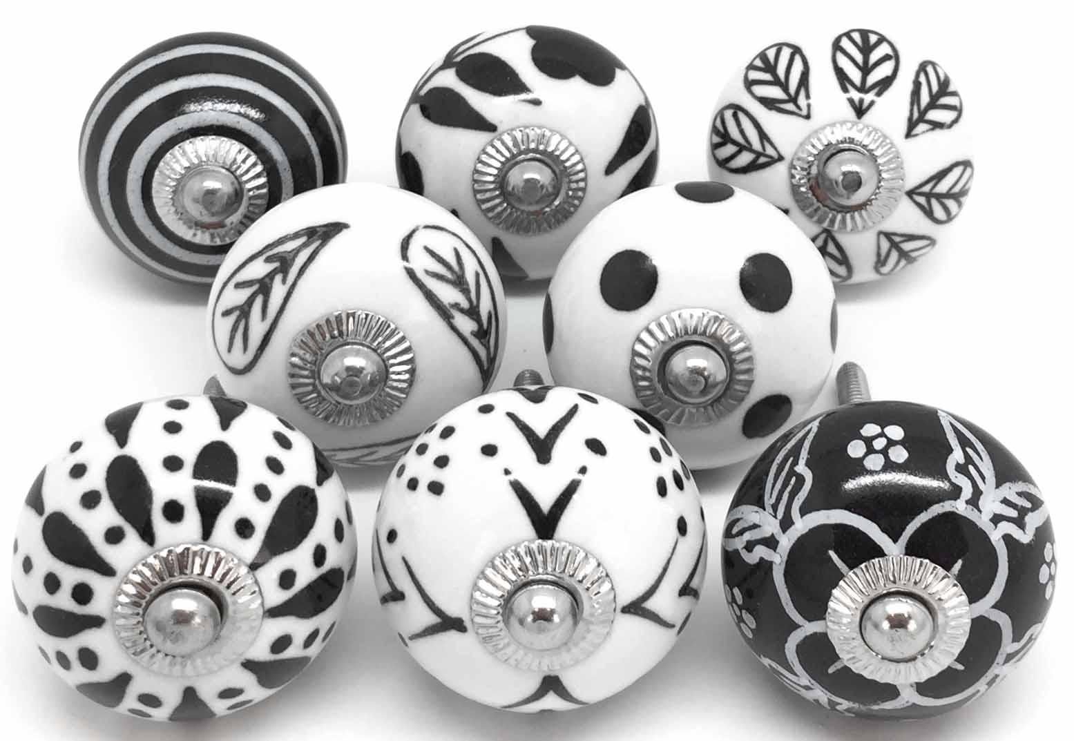 Set of 8 Black & White E8-9