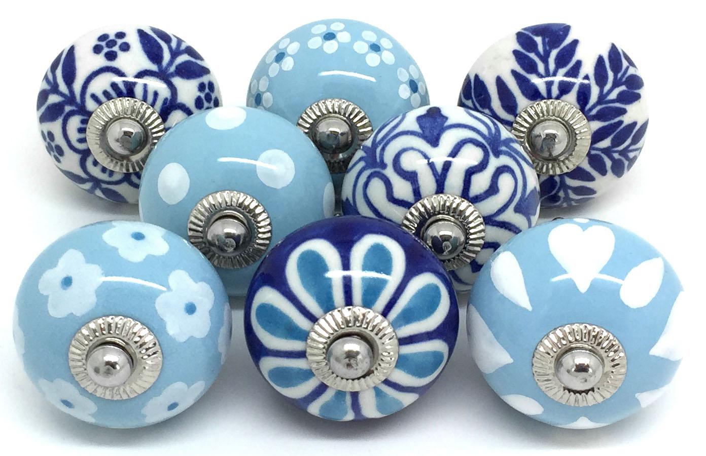 Set of 8 Mixed Blue E8-15
