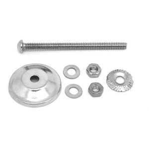 Set of Silver Coloured Fixings Standard Bolt 6.5cm