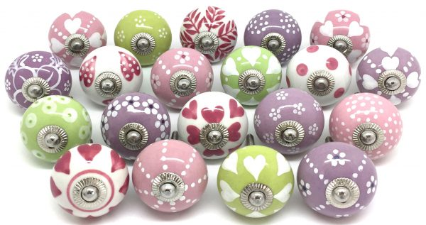 Z02 Set of 20 Pink, Lilac & Green